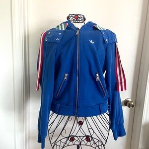 Adidas originals blue sweater hoodie jacket